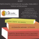 """Concurso Granabip de Relatos y Cuentos """"Con Alma""""."""