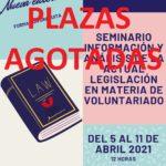 """Abrimos plazo de inscripción al Seminario Online """"Información y análisis de la Actual legislación en materia de Voluntariado"""""""